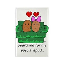 Couch Potato Love Rectangle Magnet (10 pack)