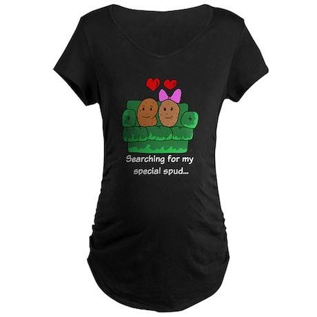 Couch Potato Love Maternity Dark T-Shirt