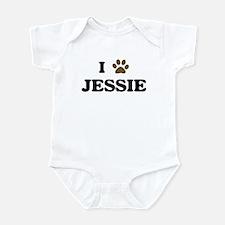 Jessie paw hearts Infant Bodysuit