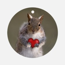 Squirrel Lovers Round Ornament