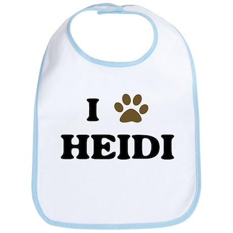 Heidi paw hearts Bib