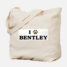 Bentley paw hearts Tote Bag
