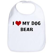 I Love My Dog Bear Bib