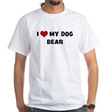 I Love My Dog Bear Shirt