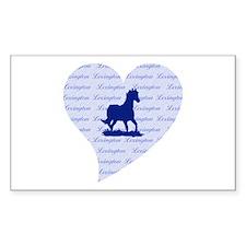 Lexington Kentucky Horse Rectangle Decal