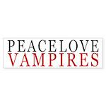Peace, Love, Vampires Bumper Sticker