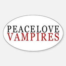 Peace, Love, Vampires Oval Decal