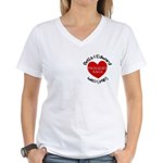 Peace, Love, Vampires Women's V-Neck T-Shirt