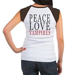 Peace, Love, Vampires Women's Cap Sleeve T-Shirt
