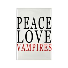 Peace, Love, Vampires Rectangle Magnet