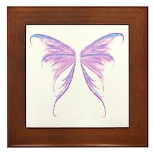 blue/ purple wings Framed Tile