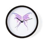 blue/ purple wings Wall Clock