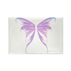 blue/ purple wings Rectangle Magnet (100 pack)