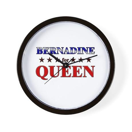 BERNADINE for queen Wall Clock