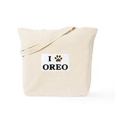Oreo paw hearts Tote Bag