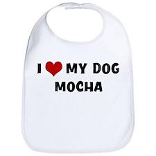 I Love My Dog Mocha Bib