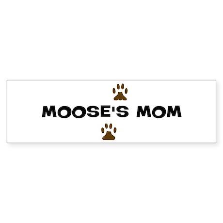 Moose Mom Bumper Sticker