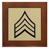 Police sergeant Framed Tiles