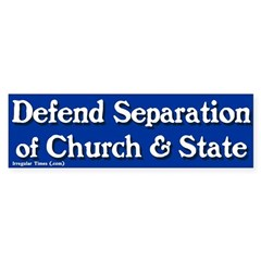 Church and State Bumper Bumper Sticker