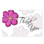 Pink Thank You (Hibiscus) Postcards (Package of 8)