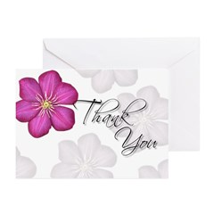 Pink Thank You (Hibiscus) Greeting Cards (Pk of 20