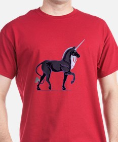 Dark Unicorn Picture T-Shirts in Dark Colors