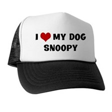 I Love My Dog Snoopy Trucker Hat