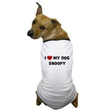 I Love My Dog Snoopy Dog T-Shirt