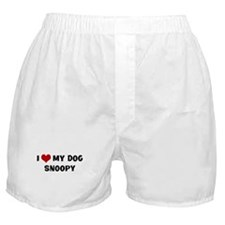 I Love My Dog Snoopy Boxer Shorts