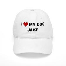 I Love My Dog Jake Baseball Cap