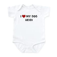 I Love My Dog Heidi Infant Bodysuit