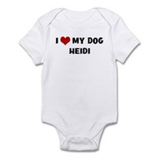 I Love My Dog Heidi Onesie