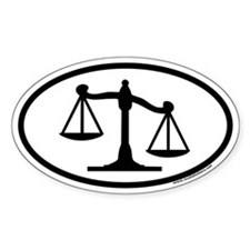 Scales of Justice Legal Oval Bumper Stickers