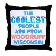 Coolest: Woodruff, WI Throw Pillow