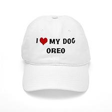 I Love My Dog Oreo Baseball Cap