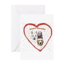 Smart Blondes Greeting Card