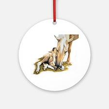 Palomino, Mare, buckskin, foa Ornament (Round)