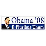 E Pluribus Unum Obama '08 bumper sticker