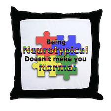 Not Normal Throw Pillow