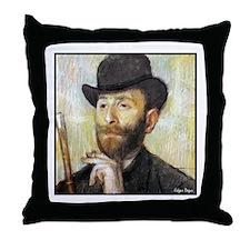"Faces ""Degas"" Throw Pillow"
