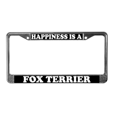 Happiness Is A Fox Terrier License Plate Frame