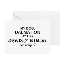 Dalmation Deadly Ninja Greeting Cards (Pk of 10)