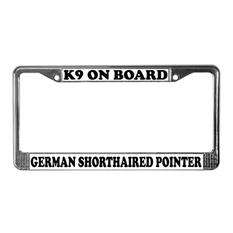 K9 German Shorthaired Pointer License Plate Frame