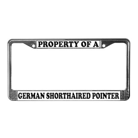 Property German Shorthaired Pointer License Frame