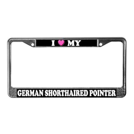 I Heart German Shorthaired Pointer License Frame