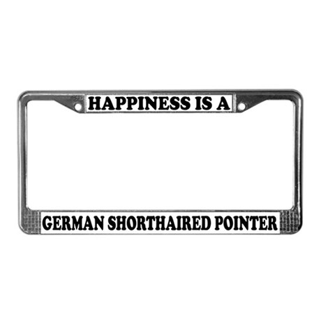 Happiness German Shorthaired Pointer License Frame