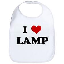 I Love LAMP Bib