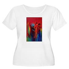 Chief Blue Feather Women's Plus Size T-Shirt