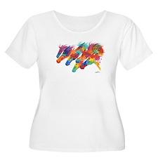 Psychedelic Derby Women's Plus Size T-Shirt
