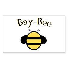Bay-Bee Baby Bumblebee Rectangle Decal